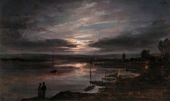 The Elbe in Moonlight