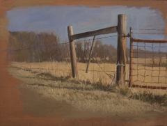 """The Gate"" by Lydia Martin (18""x22"") oil on gessoed cardboard"