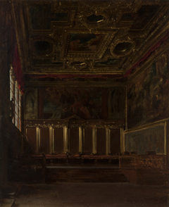 The Hall of Ambassadors in the Doge's Palace in Venice
