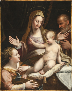 The Holy Family with Saint Catherine of Alexandria