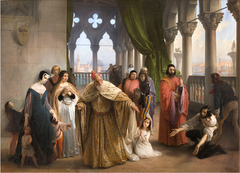 The Last Meeting between Jacopo Foscari and his Family Before Being Sent into Exile
