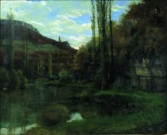 The 'Mirror' on the River Loue at Scey-en-Varais, near Ornans