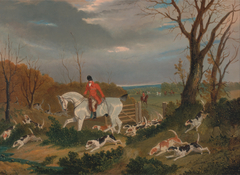 The Suffolk Hunt: Going to Cover near Herringswell