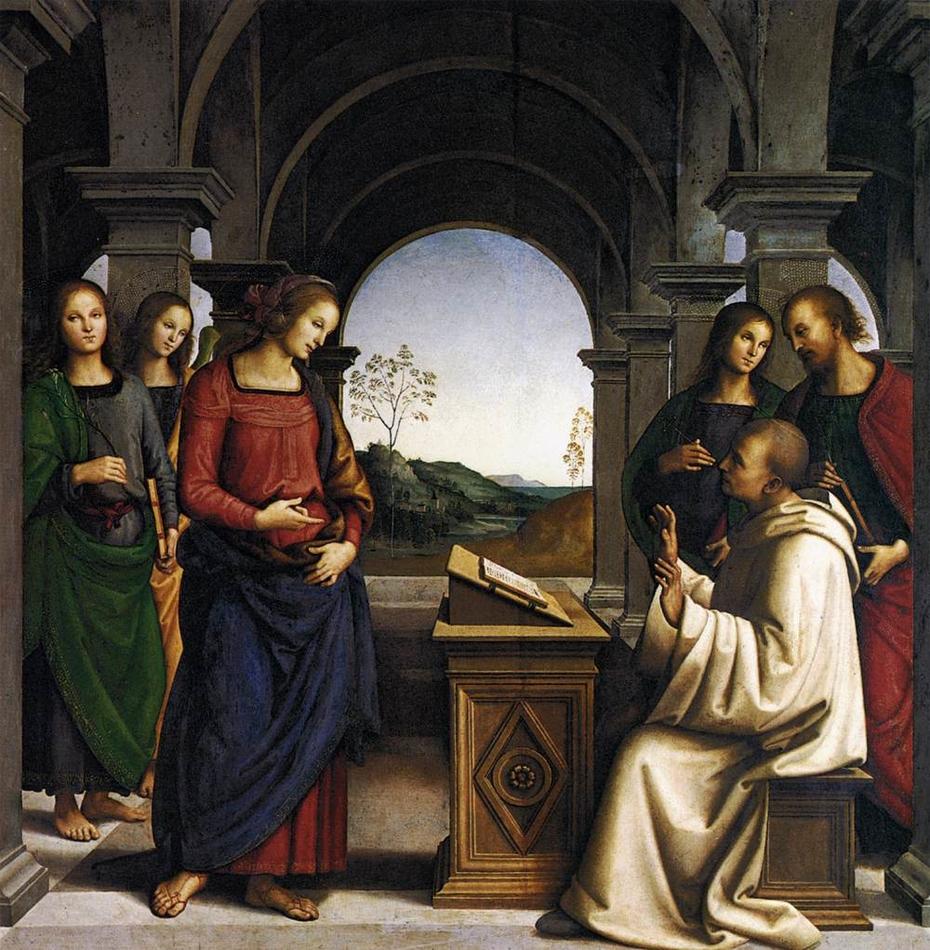 The Virgin appearing to St. Bernard