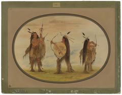 Three Mandan Warriors Armed for War
