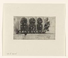 Toeschouwers op het balkon van de schouwburg