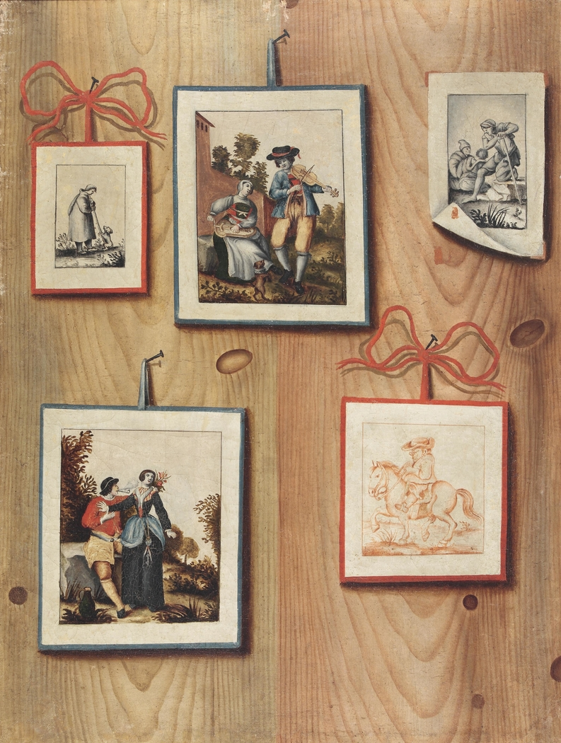 Trompe-l'œil with Stuck Drawings and Engravings