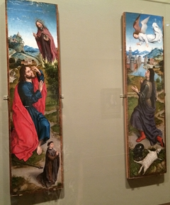 Two wings of an altarpiece (Moses and the Burning Bush & Gideon and the Fleece)