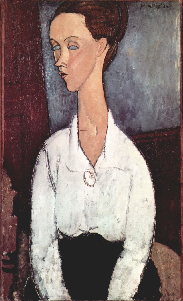 Portrait of Lunia Czechowska in White Blouse