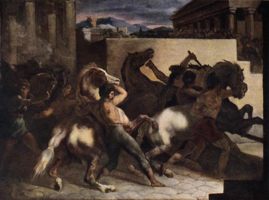 Course de chevaux libres : La Mossa
