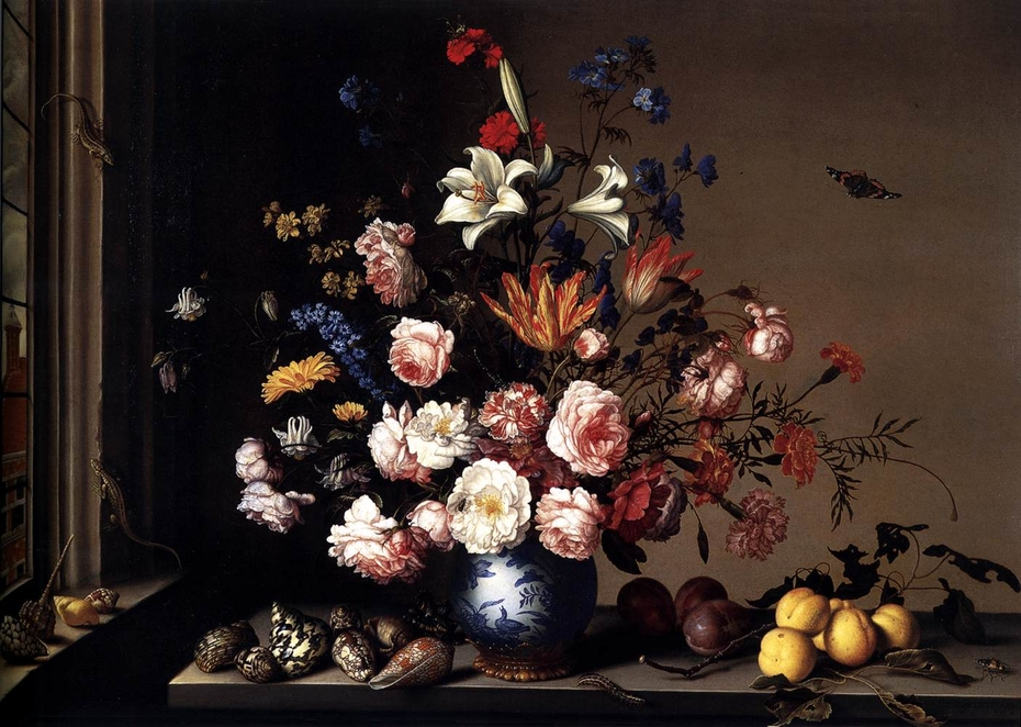 Vase of Flowers by a Window