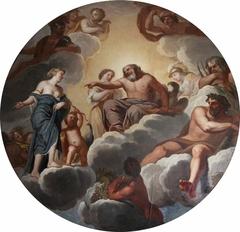 Venus petitioning Jupiter on behalf of Aeneas