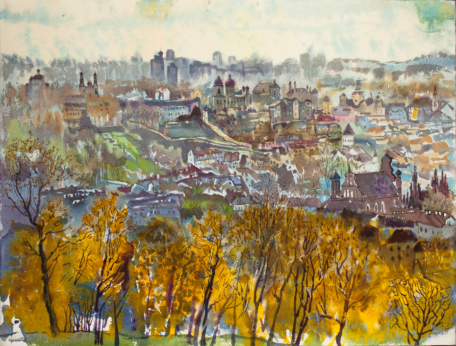 view of Vilnius, late october