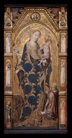 Virgin and Child Enthroned with Cardinal Alonso Borja (Borgia)