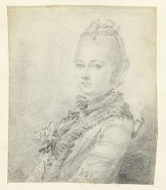 Vrouwenportret, buste naar links