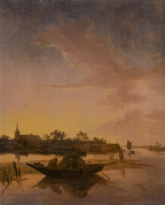 Water Landscape with Fishermen