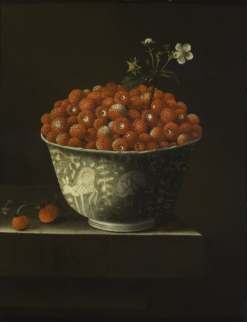 Wild Strawberries in a Wan Li Bowl