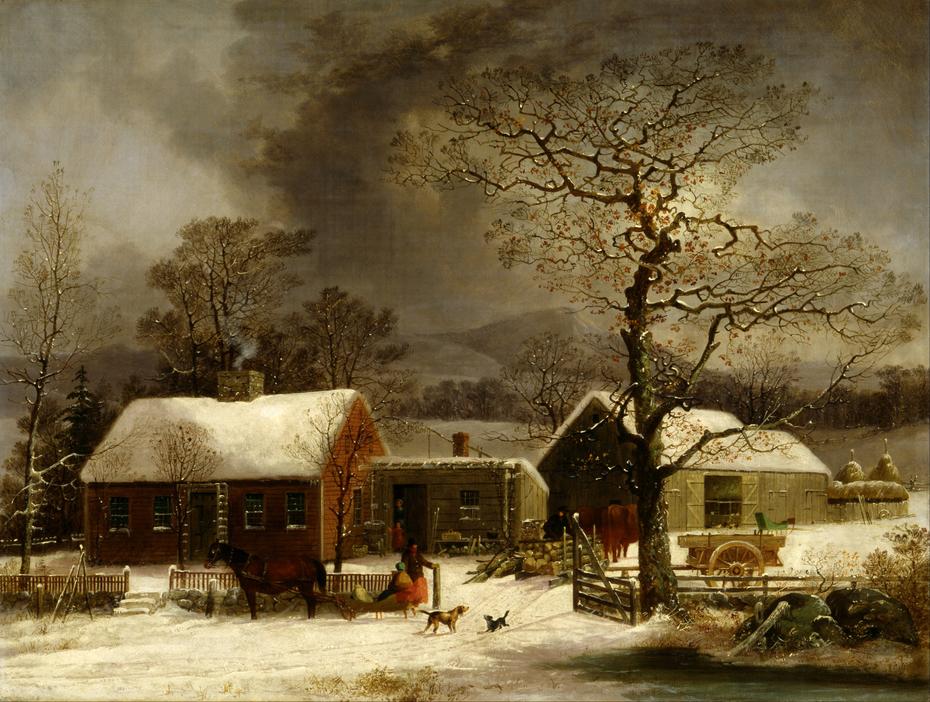 Winter Scene in New Haven, Connecticut