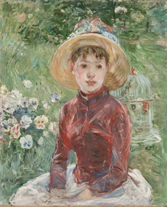 Young Girl with Cage