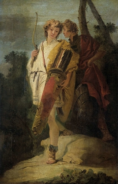 Young Man with Bow and large Quiver and his Companion with a Shield, formerly entitled Telemachus and Mentor