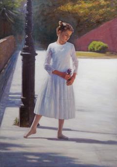 «Μικρή μπαλαρίνα», 70 x 100 cm,,oil on canvas.