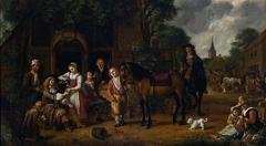 A scene before the inn.