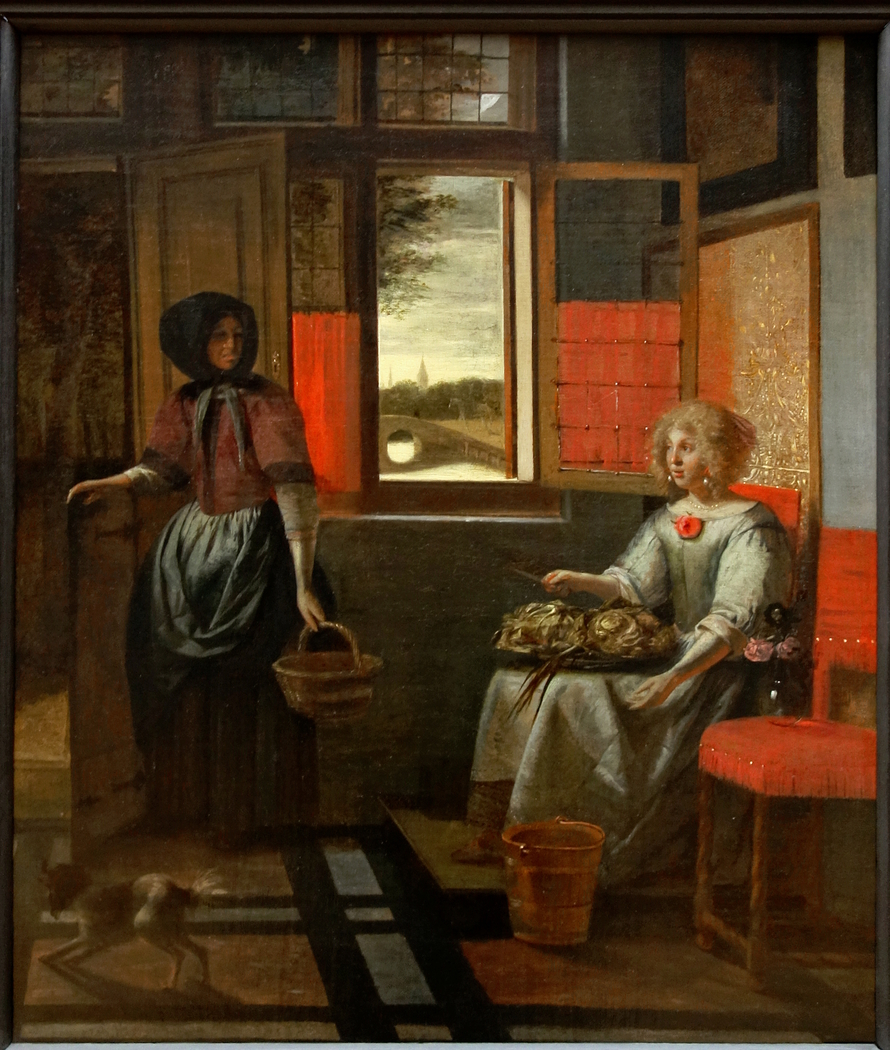 A Woman with a Serving Girl