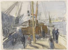 Achterplecht van een passagiersschip met Hollandse vlag