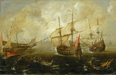 Action between English and Spanish ships