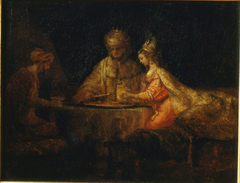 Ahasuerus and Haman at the Feast of Esther