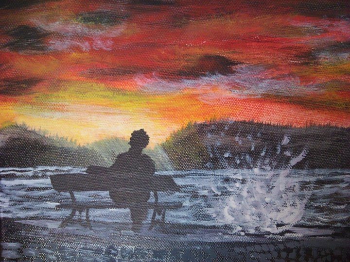 Alone with the sunset