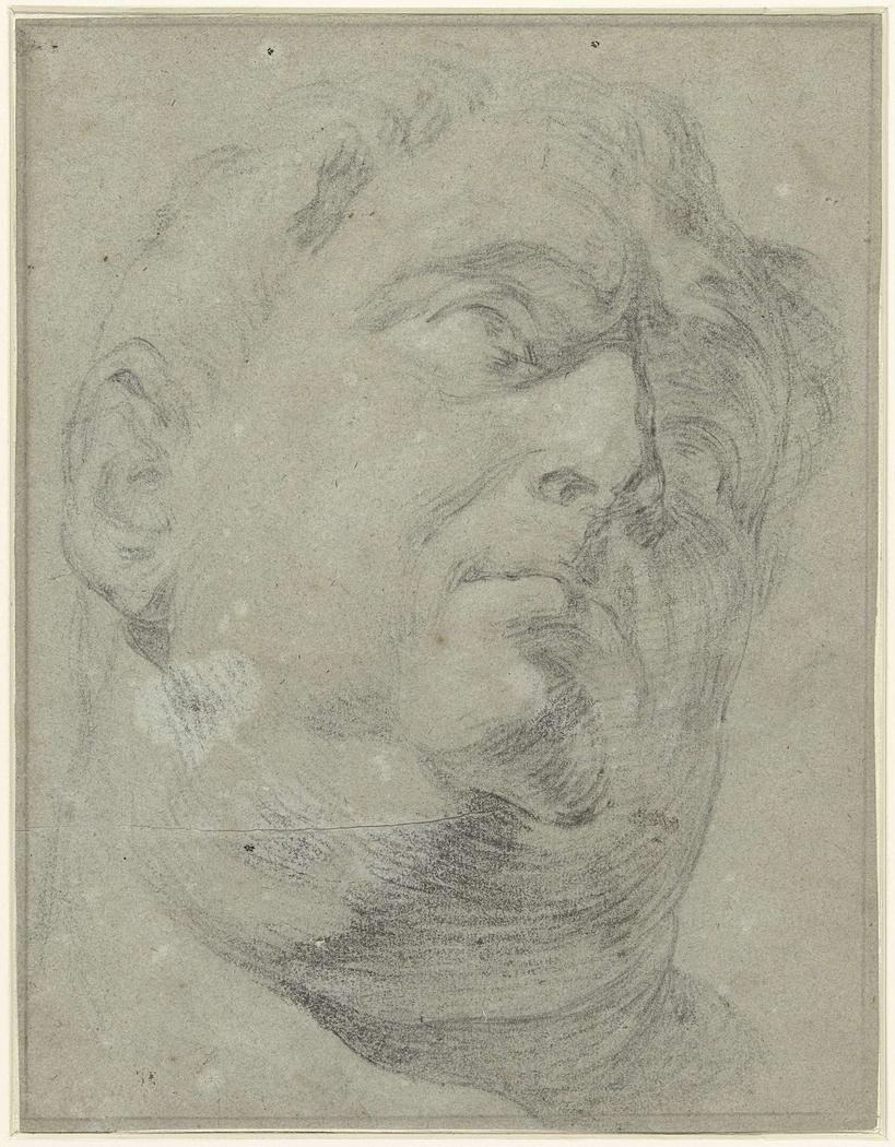 Antiek romeins marmeren buste van Presunto Vitellio
