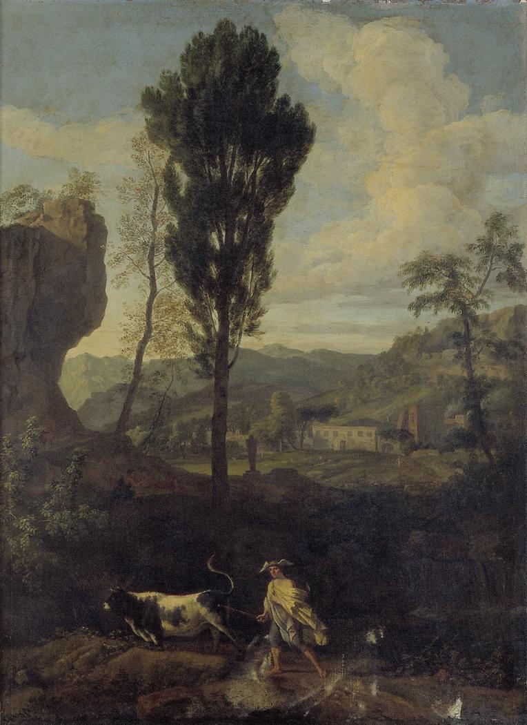Arcadian landscape with Mercury and Io