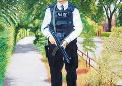 'Armed Police' , (2006), oil on linen, 140 x 100 cm.