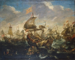 Battle of the Spanish and the Dutch Fleet on May 1573, at the Time of the Siege of Haarlem