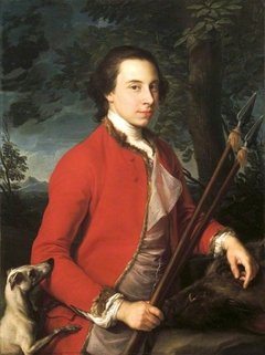 Benjamin Lethieullier MP (1728/9-1797), with two Wild Boar Spears