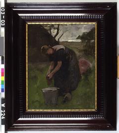 Boerenvrouw aan het werk (Ewijkshoeve)