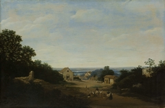 Brazilian landscape with the village of Igaraçú. To the left the church of Sts Cosmas and Damian