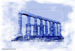 CALEPINAGE CAP SOUNION I - by Pascal
