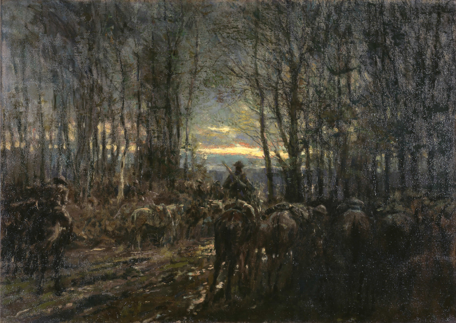 Canadian Cavalry Ready in a Wood