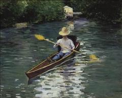 Canoe on the Yerres River