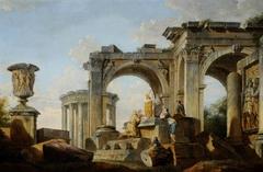 Capriccio of Classical Ruins with Figures