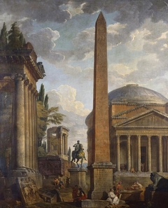 Caprice View with the Pantheon and Roman Ruins
