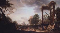Classical capriccio of Rome