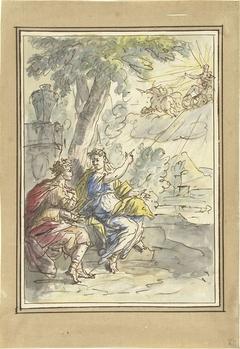 Clymene vertelt haar zoon Phaëton over zijn vader Apollo