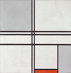 Composition (No. 1) Gray-Red