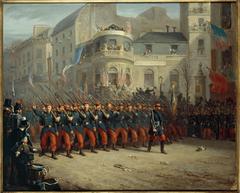 Défilé sur le boulevard des Italiens, des troupes de l'armée de Crimée, le 29 décembre 1855
