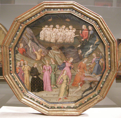 Desco da parto (Birth Salver), obverse: Diana and Actaeon, reverse: Justice