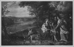 Die Heilige Familie in einer Landschaft (Art des) und Hendrik van Balen (Ar