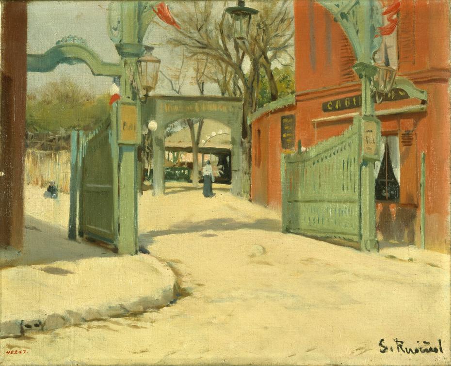 Entrance to the Park of the Moulin de la Galette